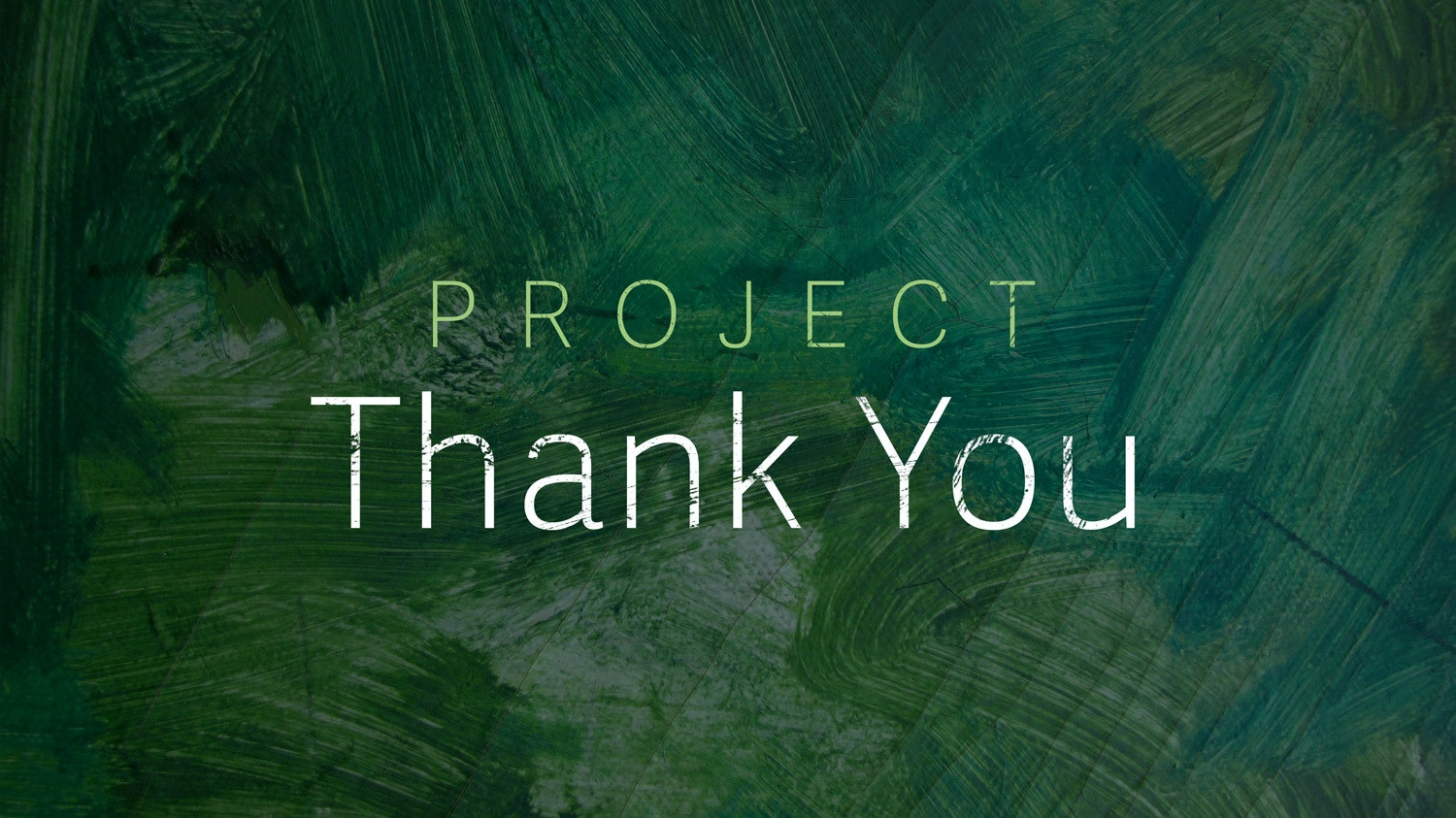 Project thank you